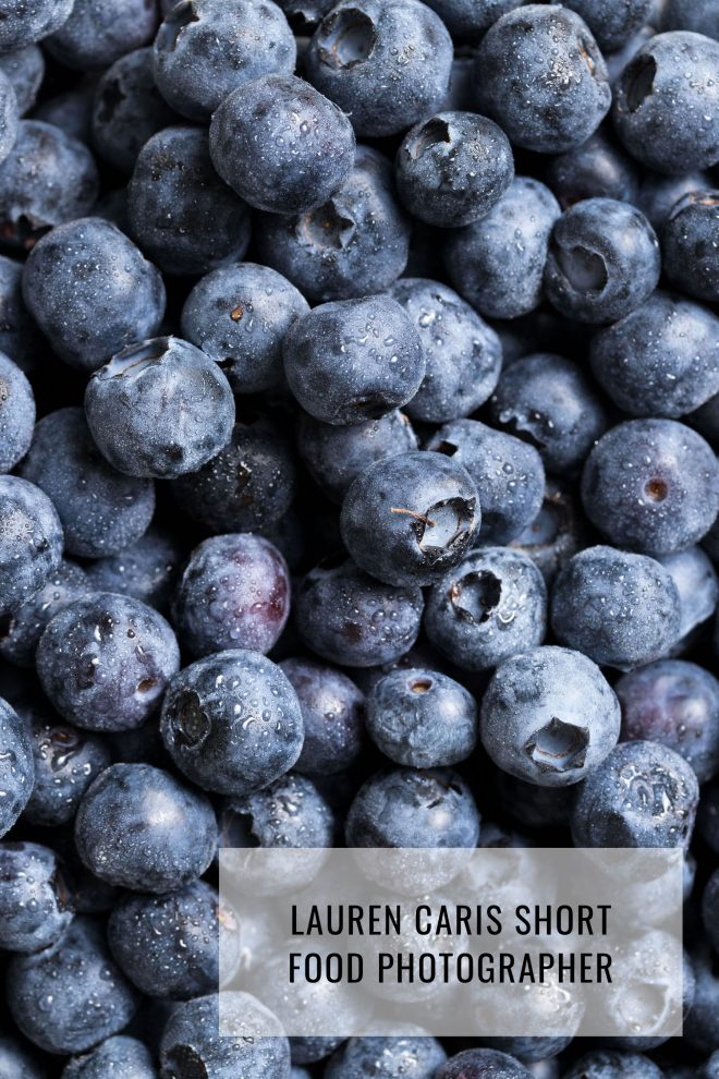 Photo of blueberries with a huge obscuring watermark