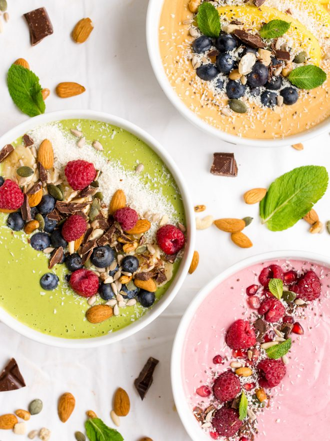 Smoothie bowls in 3 colours