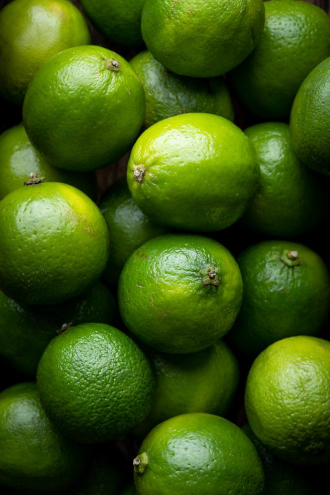 Close ups of limes, photograph by Lauren Caris Short of Food Photography Academy