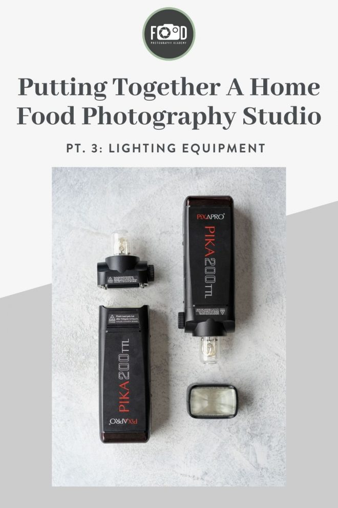 Putting together a home food photography studio, part 3: lighting equipment