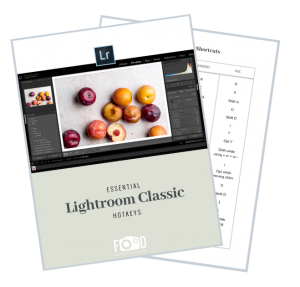 Lightroom Classic Keyboard Shortcuts for food photographers