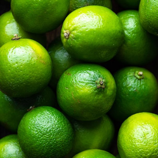 several limes pilled on top of each other