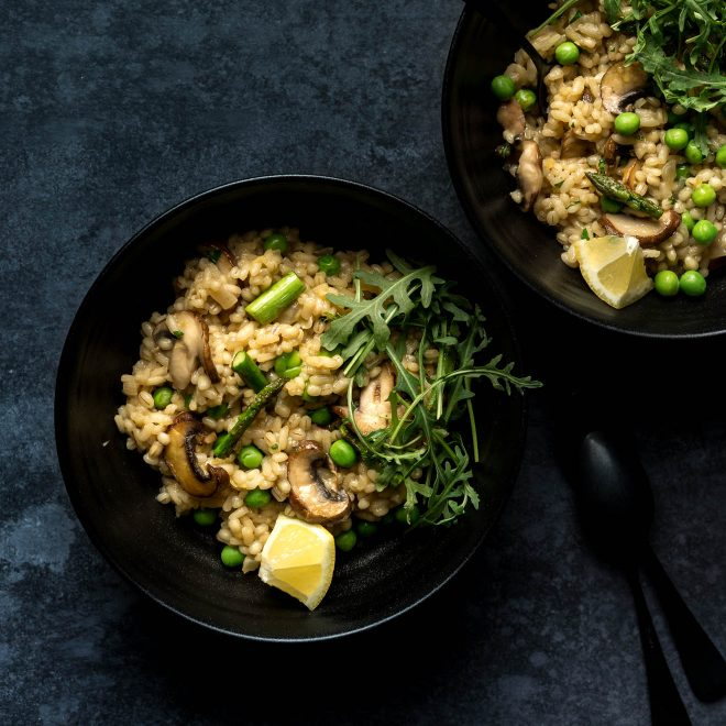 An image of risotto by food photographer Lauren Short.