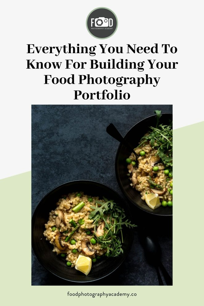 An image of risotto by food photographer Lauren Short that reads Everything You Need to Know for Building Food Photography Portfolio.