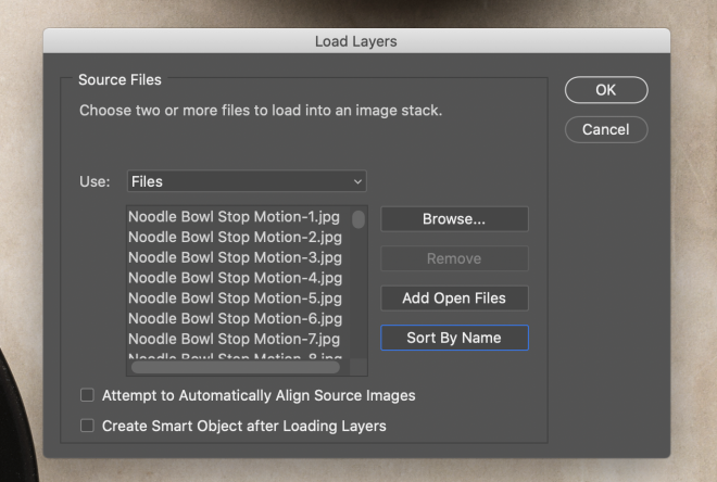 Load Files into Stack