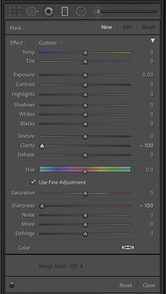 Clarity and Sharpness sliders adjustment in Lightroom Classic